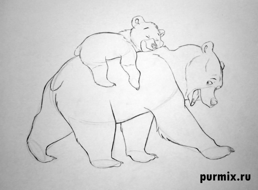How to draw Panik and Bol from Hercules with a simple pencil 8