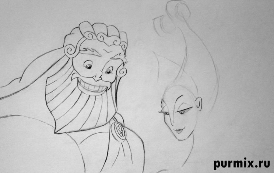 How to draw Phil from Hercules with a simple pencil 6
