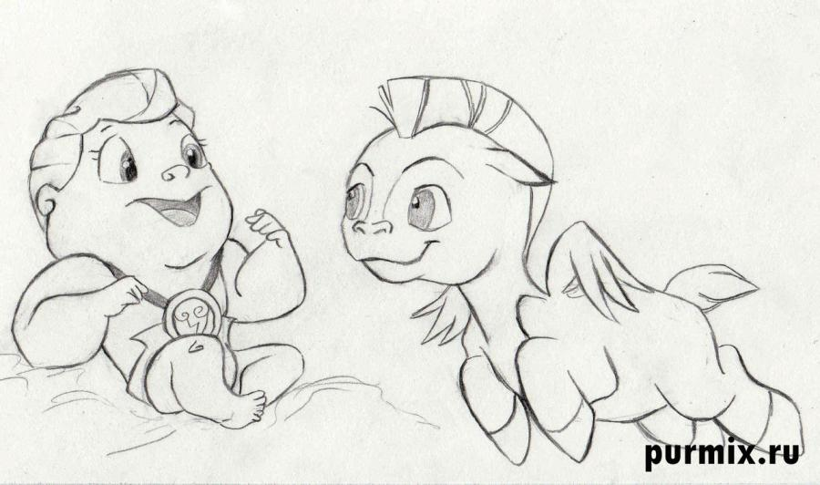 How to draw the Aida from Hercules with a simple pencil 7
