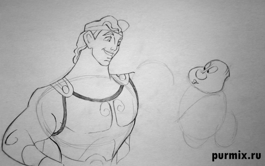 How to draw the Cinderella's stepmother with a simple pencil step by step 6