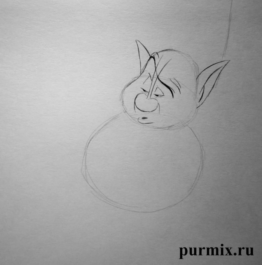 How to draw the Cinderella and the Fairy God of the Cinderella with a pencil 4