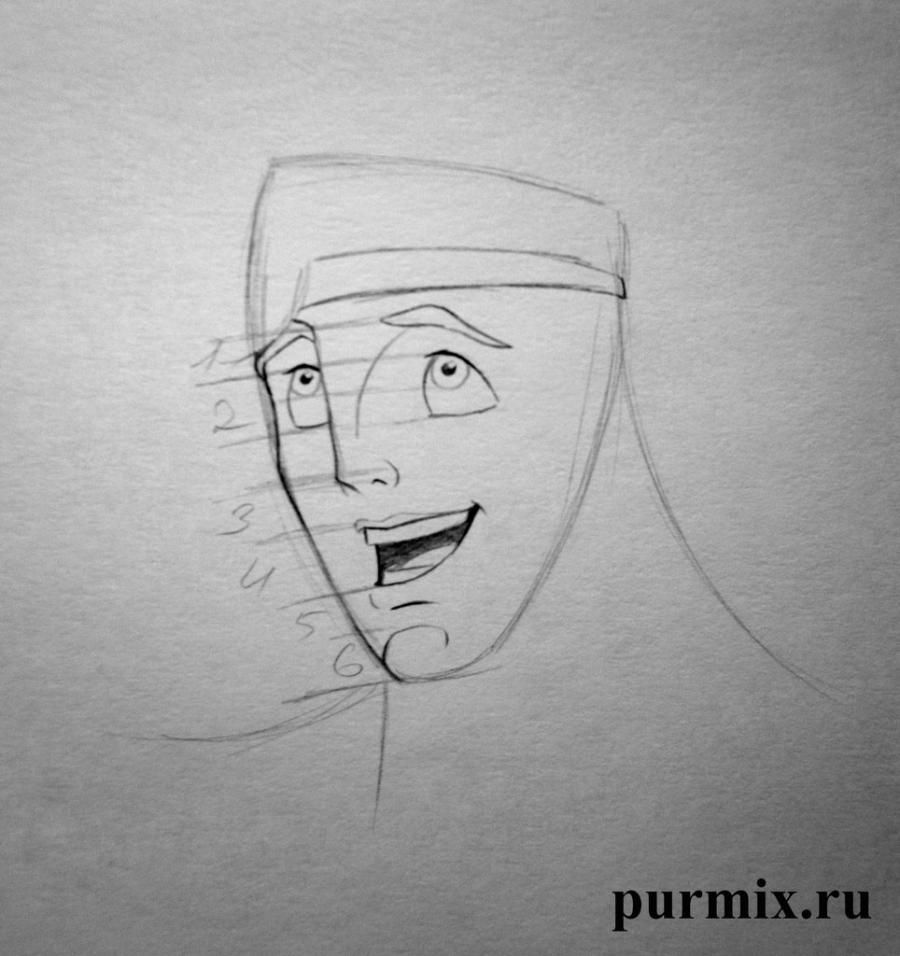 How to draw Anastasia and Grizella from the Cinderella with a simple pencil 4