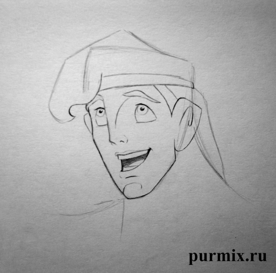 How to draw Anastasia and Grizella from the Cinderella with a simple pencil 5
