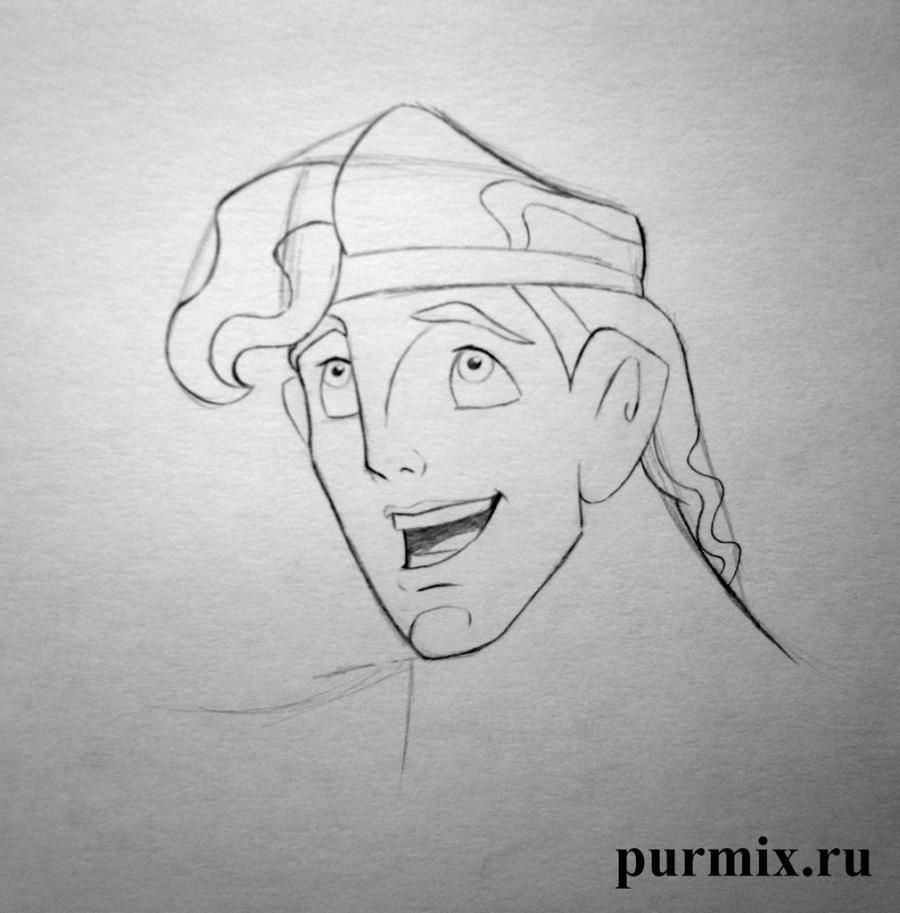 How to draw Anastasia and Grizella from the Cinderella with a simple pencil 6