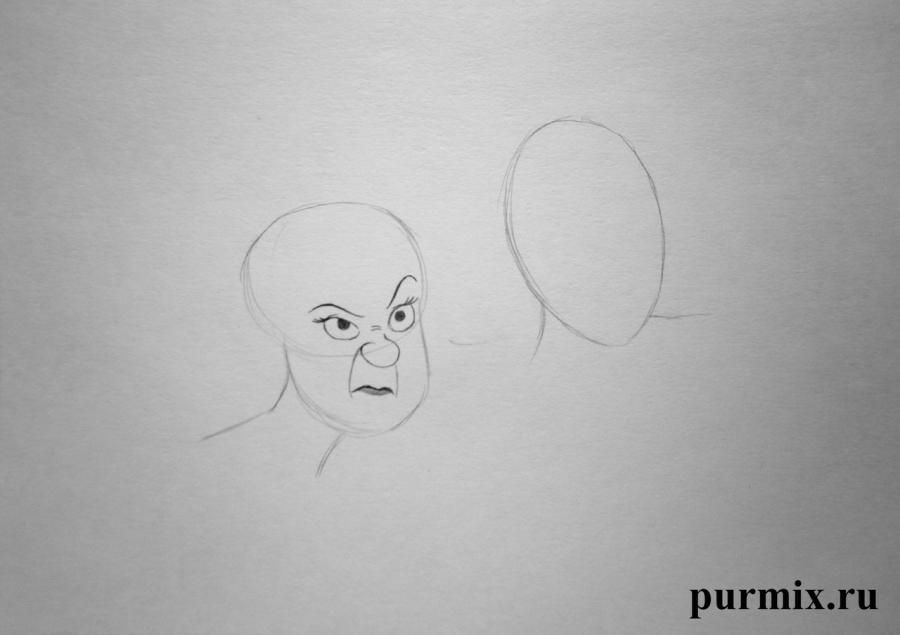 How to draw Silver and the Morph from the Planet of treasures with a pencil 3