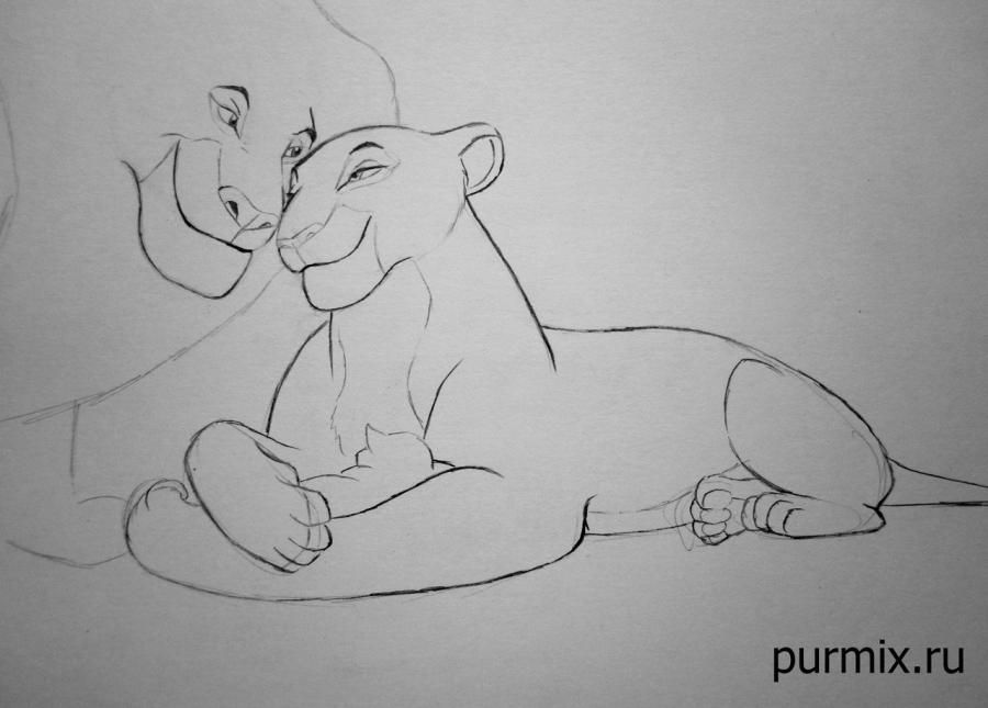 How to draw hyenas from The Lion King with a simple pencil step by step 6