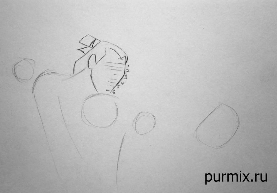 How to learn to draw Mullan on a horse a simple pencil step by step 3