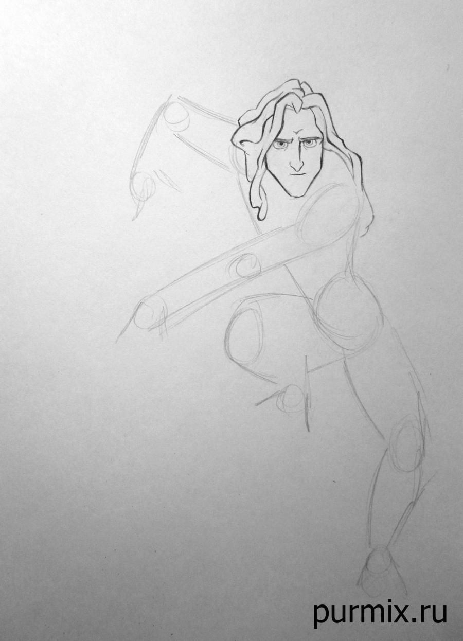 How to draw Esmeralda and Quasimodo with a simple pencil step by step 3