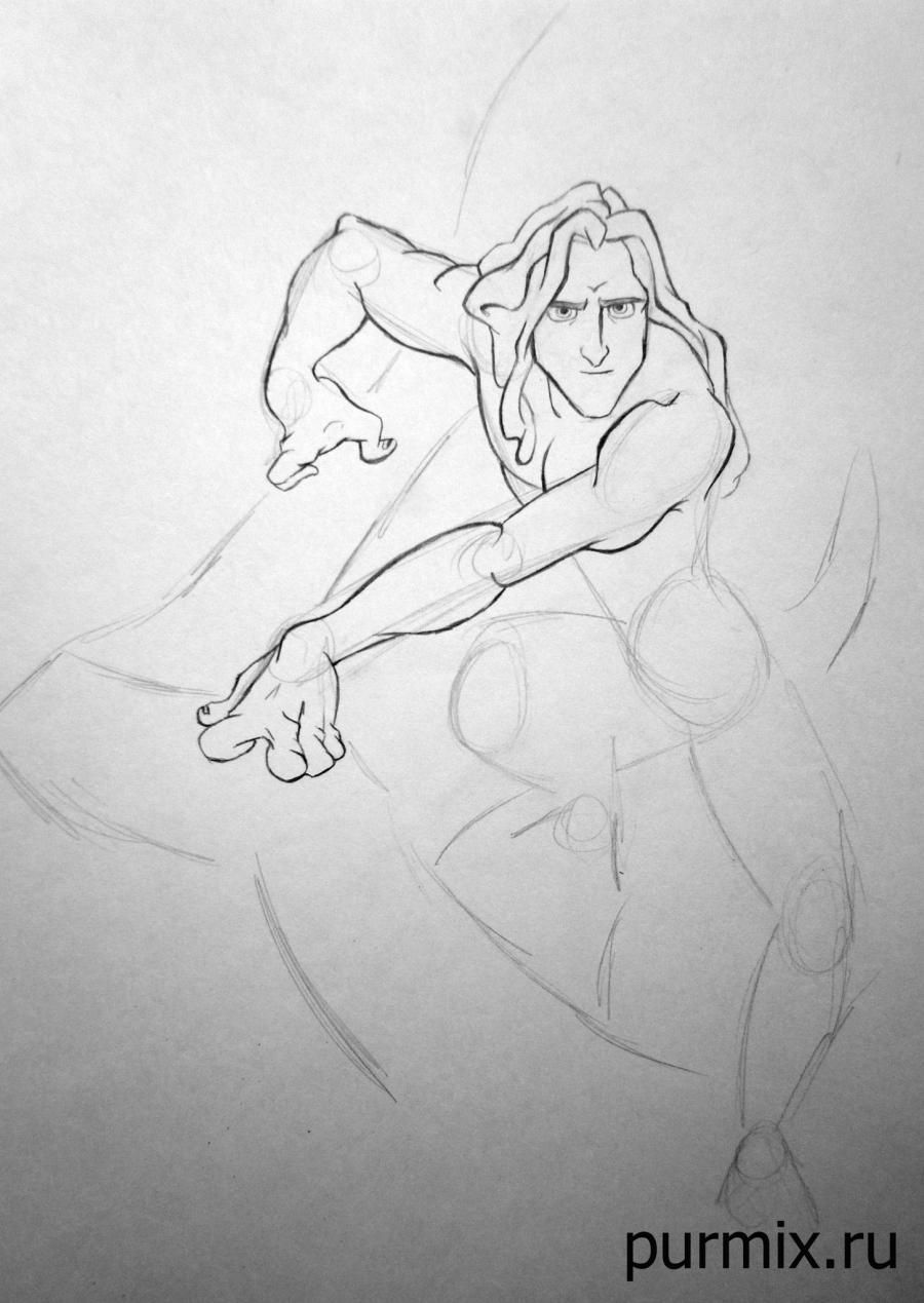 How to draw Esmeralda and Quasimodo with a simple pencil step by step 5