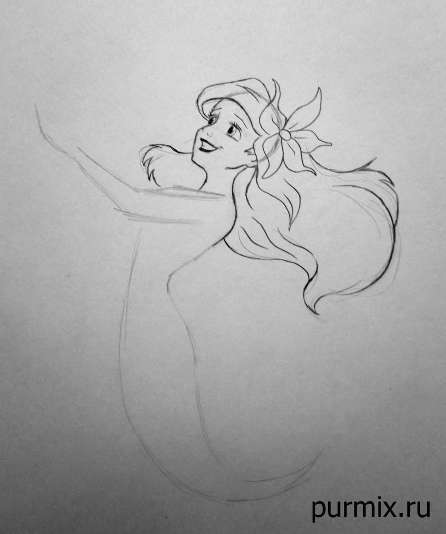 How to draw Esmeralda and Dzhali from the Humpback from Notre Dame with a pencil step by step 5