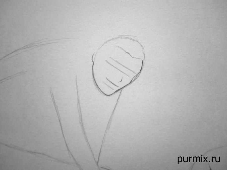How to draw Frollo from the Humpback from Notre Dame with a simple pencil 3