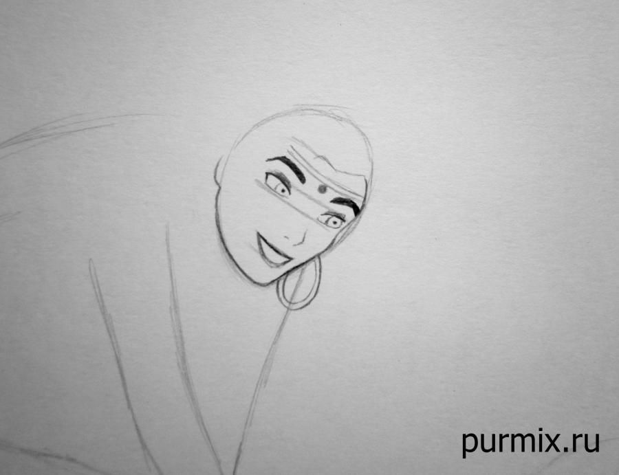 How to draw Frollo from the Humpback from Notre Dame with a simple pencil 4