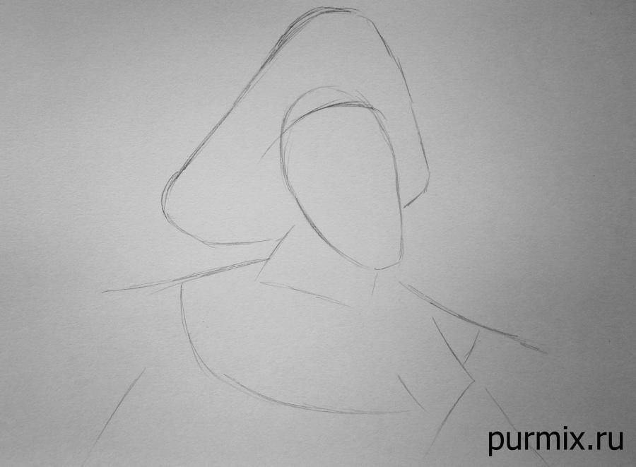 How to draw the captain John Smith and Pokakhontas with a simple pencil 2
