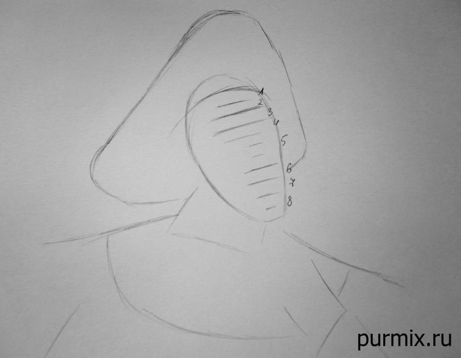 How to draw the captain John Smith and Pokakhontas with a simple pencil 3