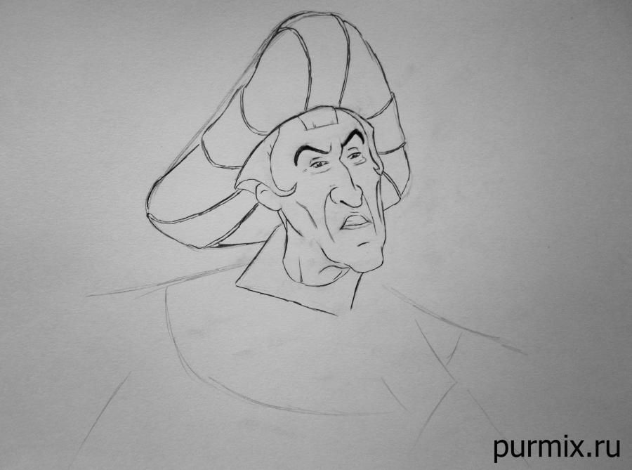 How to draw the captain John Smith and Pokakhontas with a simple pencil 5