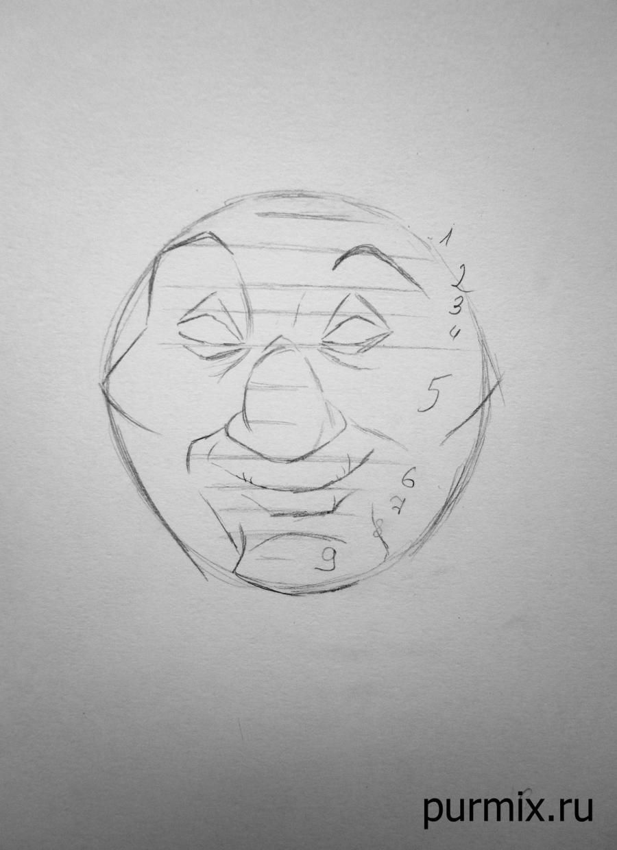 How to draw Percy's dog from Pokakhontas with a simple pencil 4