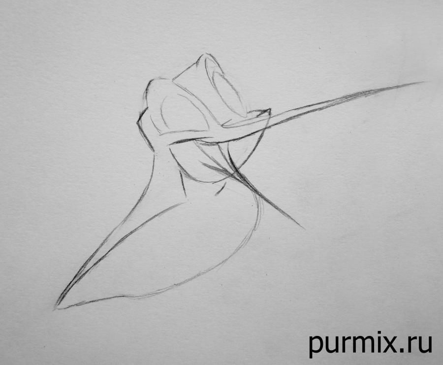 How to draw Miko from Pokakhontas with a simple pencil 4