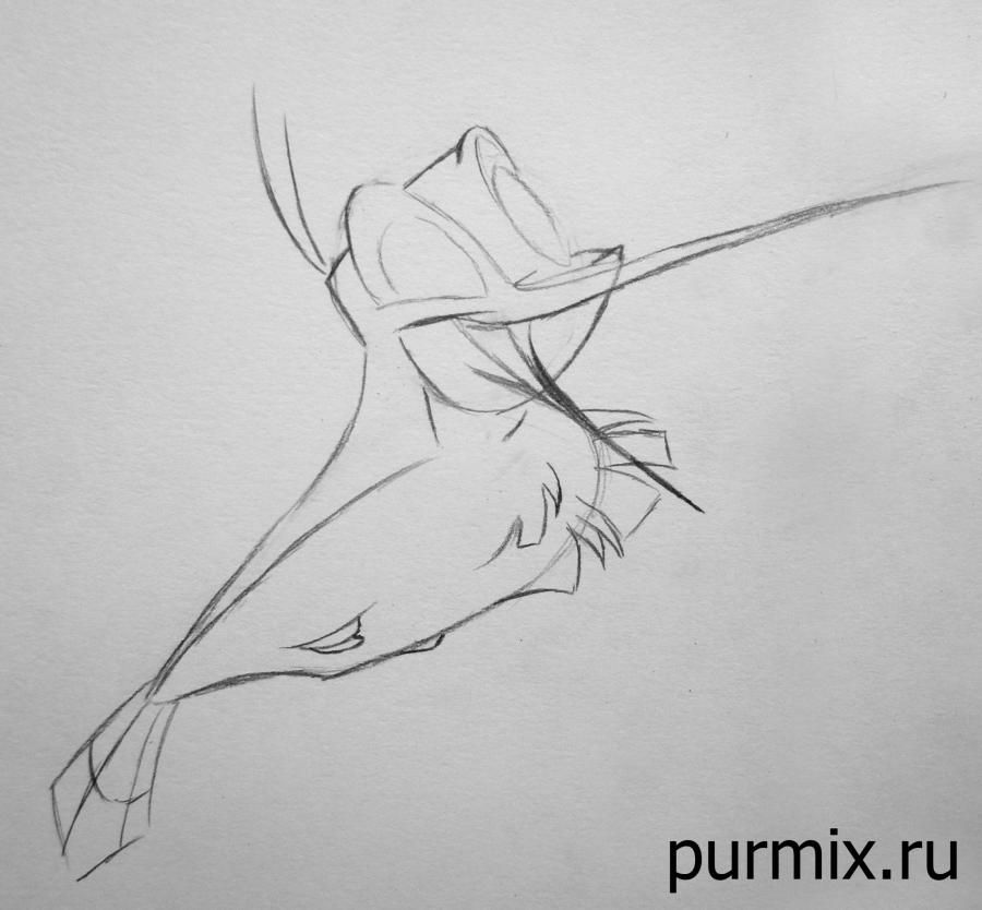 How to draw Miko from Pokakhontas with a simple pencil 5