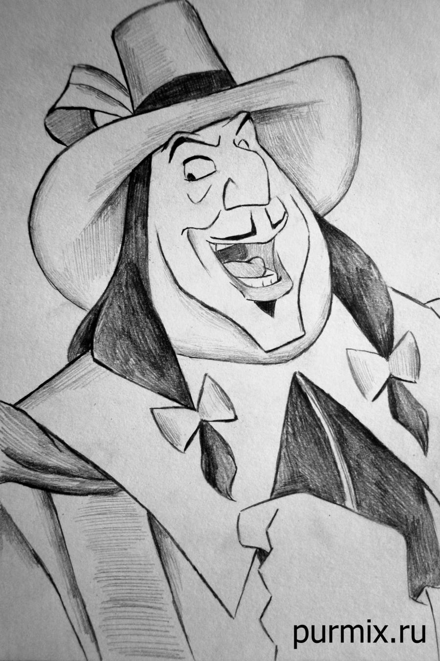 How to draw Radcliff from Pokakhontas with a simple pencil step by step