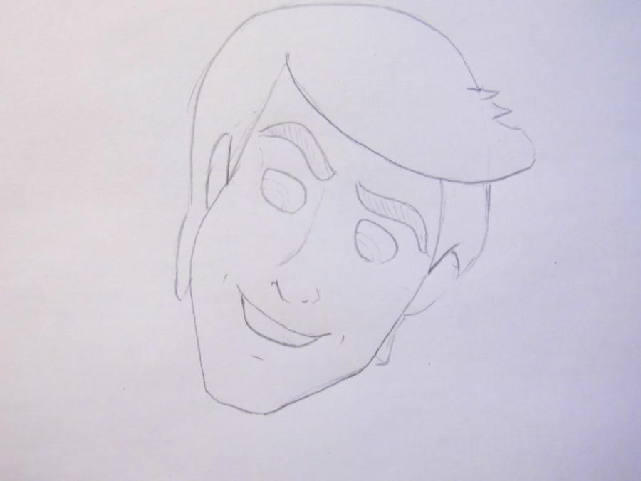 How to draw the prince Hans from Cold heart with a pencil 4