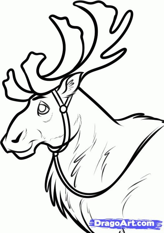 How to draw Sven's deer from Cold heart with a pencil