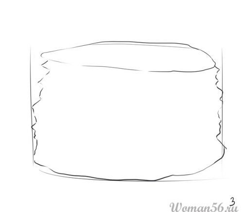 How to draw the Pie with a pencil step by step 3