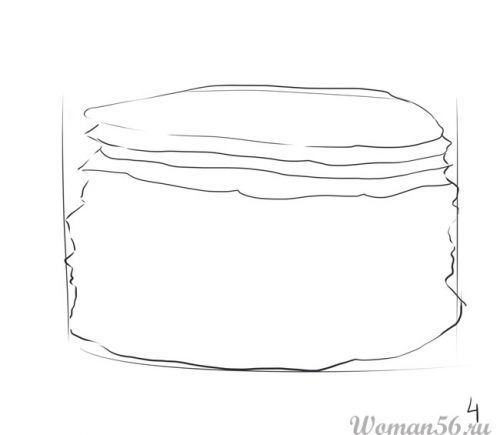 How to draw the Pie with a pencil step by step 4