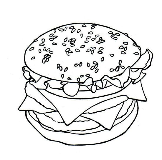 how to draw a hamburger
