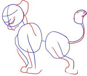 How to draw Gufi step by step 3