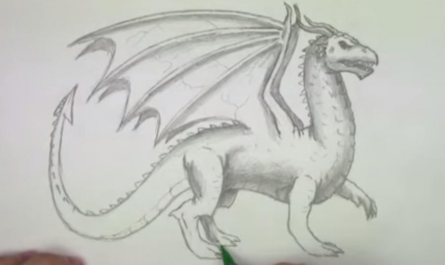 How to draw a unicorn on paper a pencil step by step 7