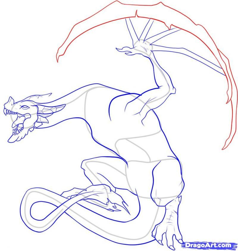 As it is simple to draw the head of a dragon on paper with a pencil 14