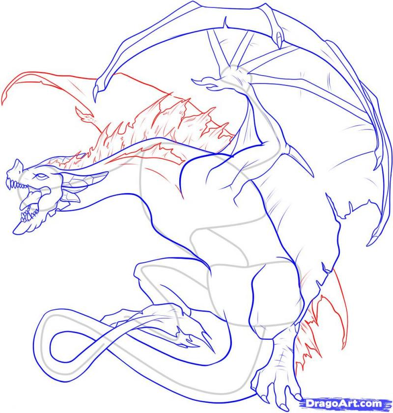 As it is simple to draw the head of a dragon on paper with a pencil 16
