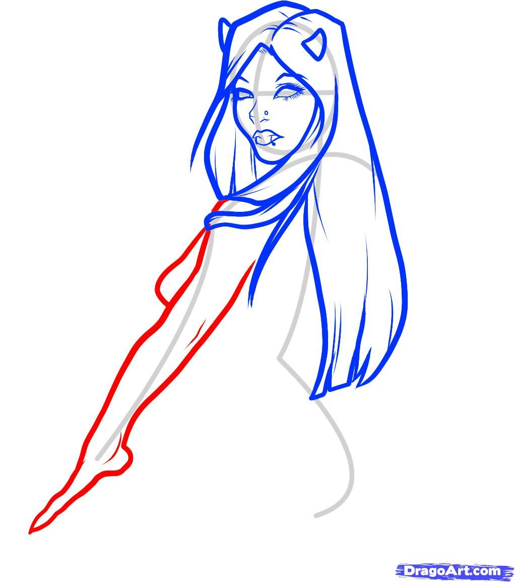 How to draw the Wizard with a magic wand and the book a pencil step by step 6