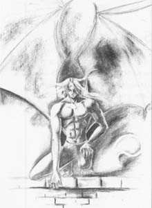 How to draw a mythical being - It is nude a pencil step by step 7