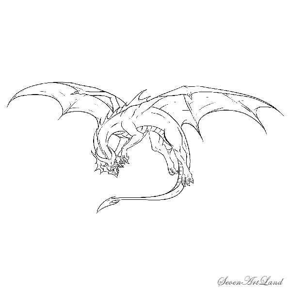 How to draw an azure dragon with a pencil step by step