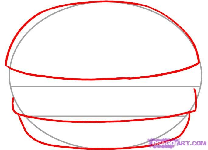 How to draw the Pizza slice with a pencil step by step 3