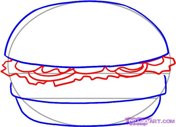 How to draw the Pizza slice with a pencil step by step 4