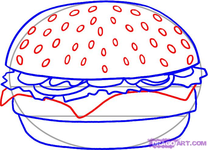 How to draw the Pizza slice with a pencil step by step 5