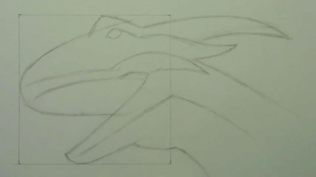 How to draw bansh (Banshee) with a pencil step by step 3