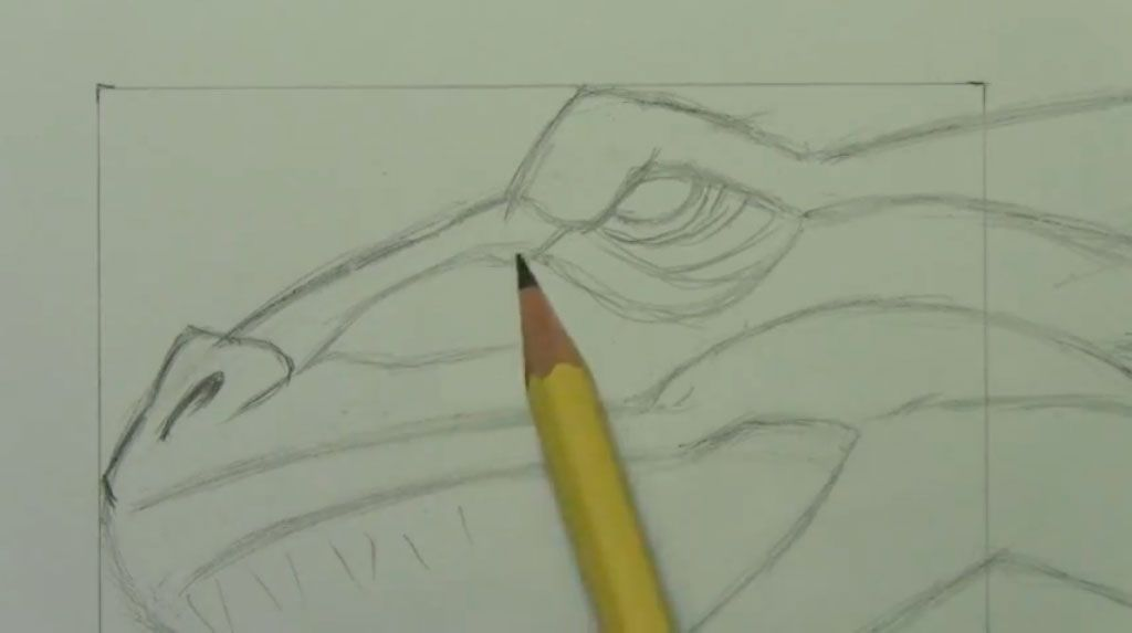 How to draw bansh (Banshee) with a pencil step by step 4