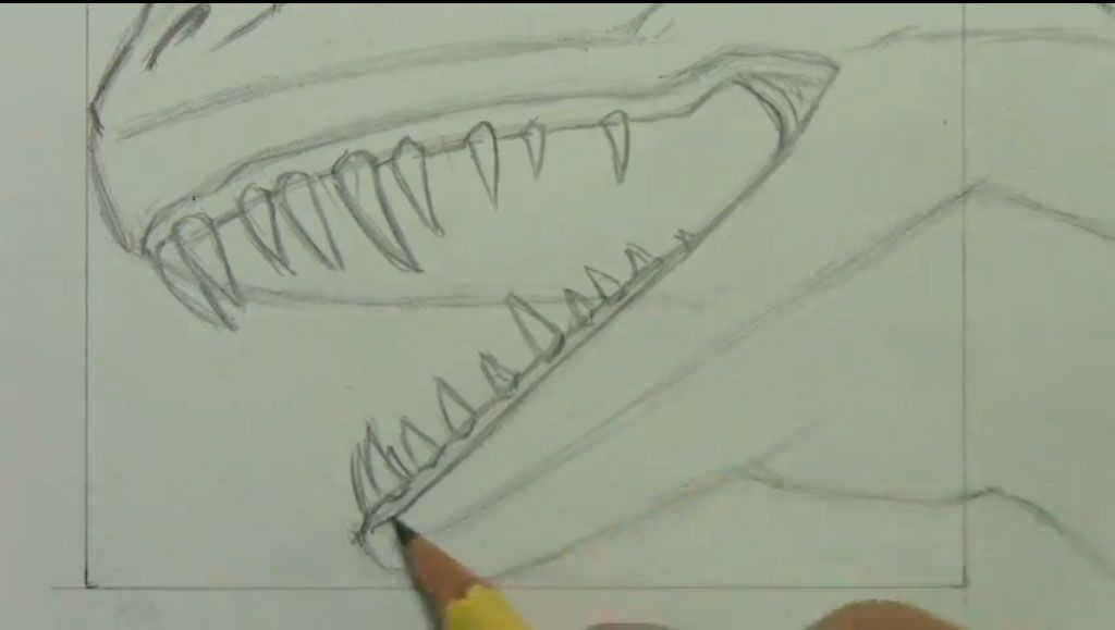 How to draw bansh (Banshee) with a pencil step by step 5