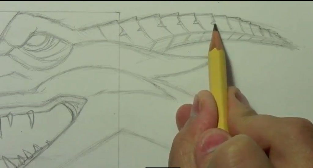 How to draw bansh (Banshee) with a pencil step by step 6