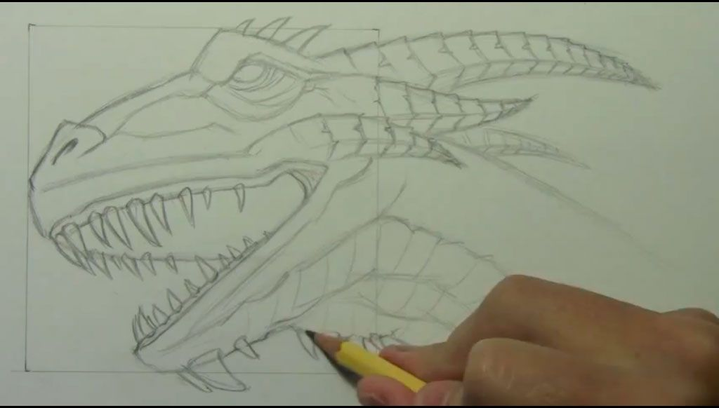 How to draw bansh (Banshee) with a pencil step by step 7