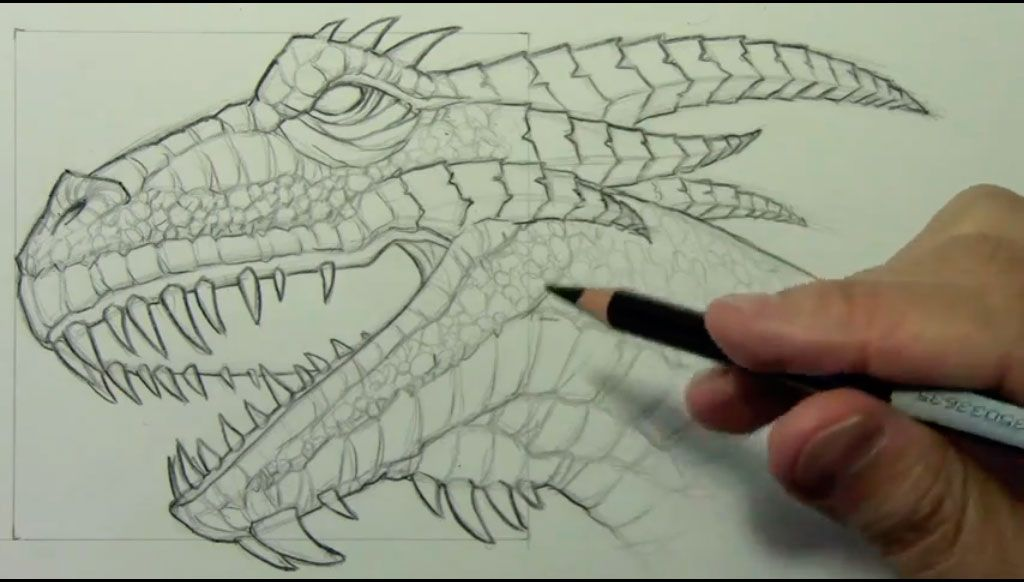 How to draw bansh (Banshee) with a pencil step by step 9