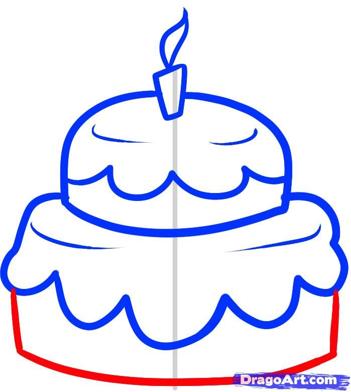 How to draw Wedding cake with a pencil step by step 6