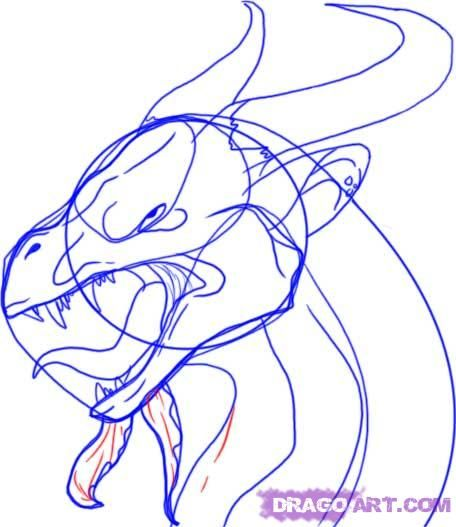 how to draw the head of a dragon step by step 10