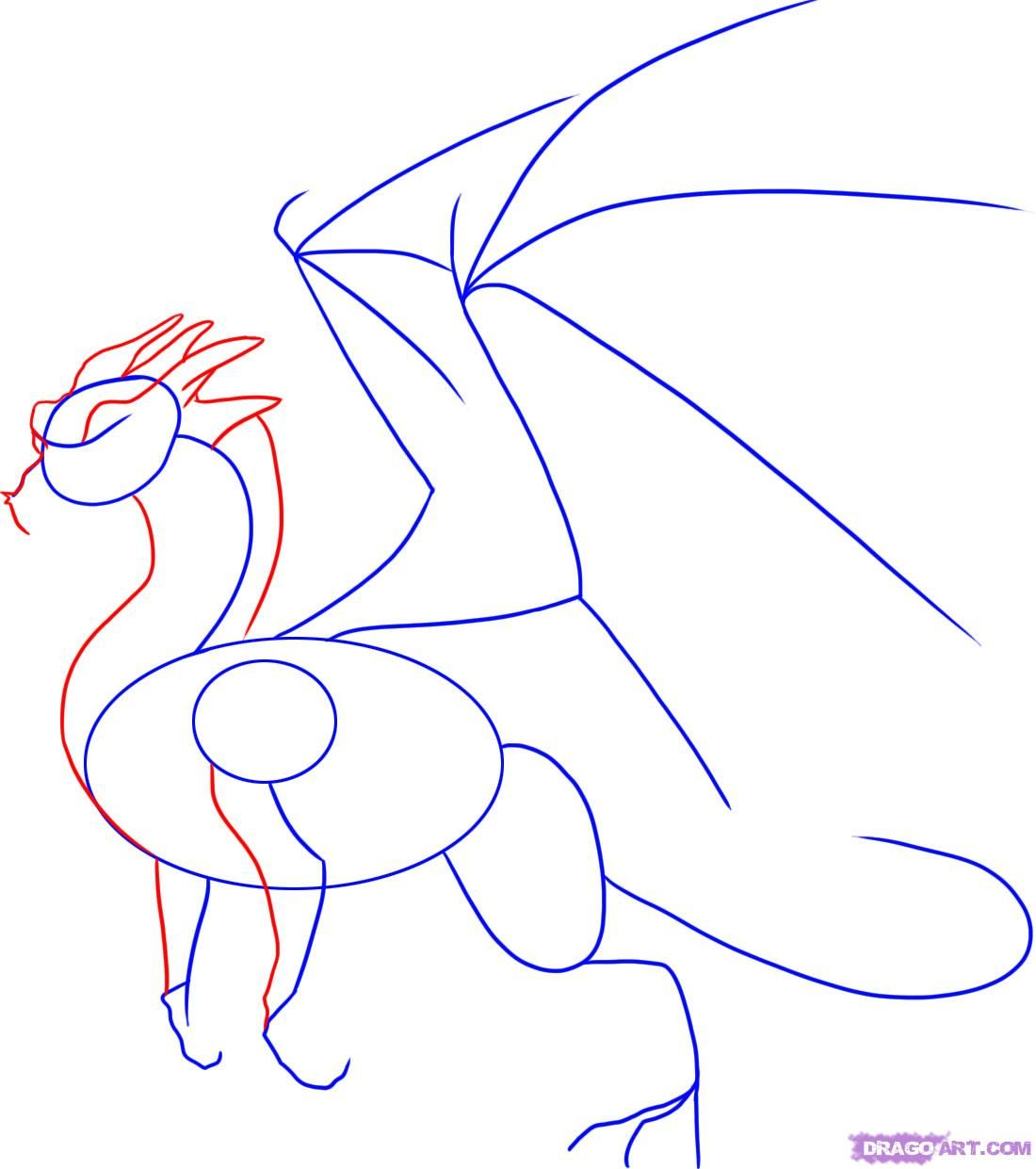 how to draw the head of a dragon step by step 3