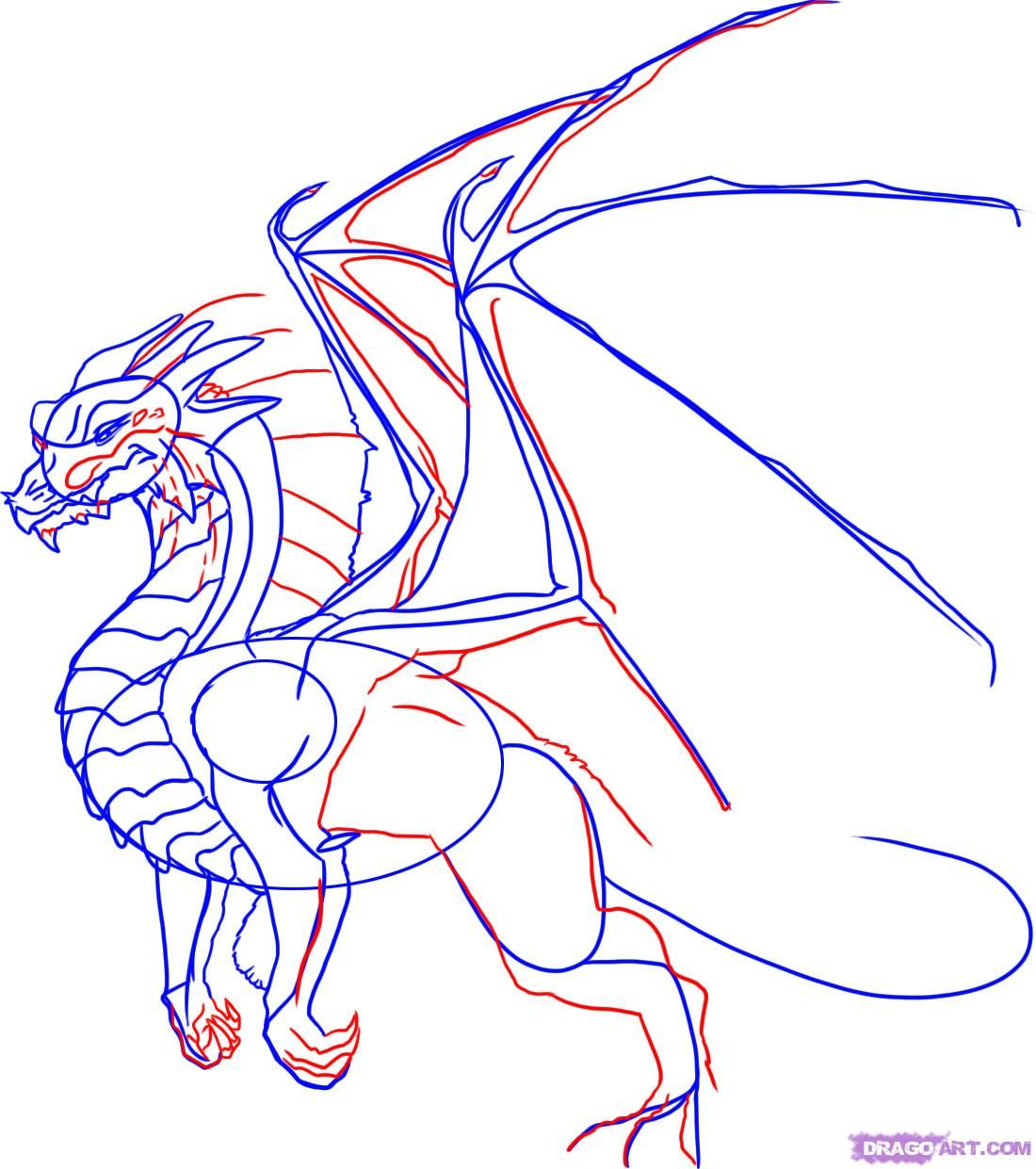 how to draw the head of a dragon step by step 6