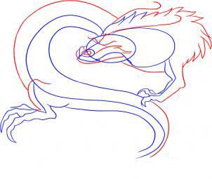 how to draw the head of a dragon step by step 4