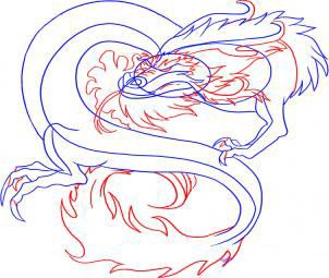 how to draw the head of a dragon step by step 5